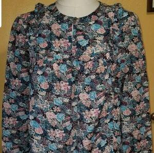 J crew Womans shirt size L